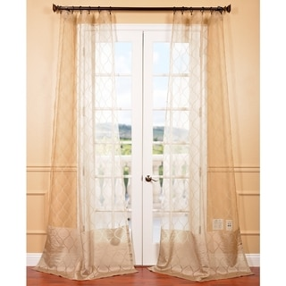 Signature Palazzo Gold 84-inch Banded Sheer Curtain