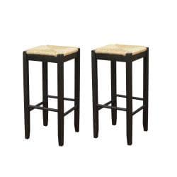 Roanoke Black Wood 29-inch Barstool (Set of 2)