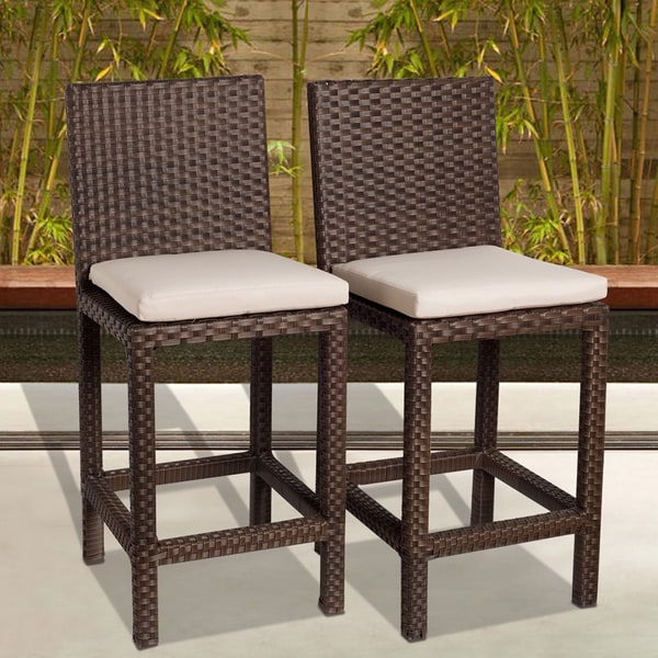 Atlantic Atlantic 'Olivia' Wicker Barstools (Set of 2) 8752982