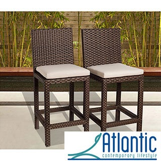 Atlantic 'Olivia' Wicker Barstools (Set of 2)