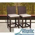 Atlantic 'Olivia' Wicker Barstools (Set of 2)