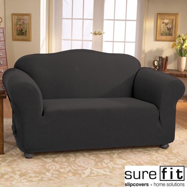 Sure Fit Ebony Stretch Honeycomb Sofa Slipcover
