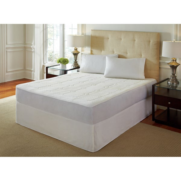 PureRest 0.5-inch Quilted Queen/King/Cal King-size Memory Foam Mattress Pad (As Is Item)