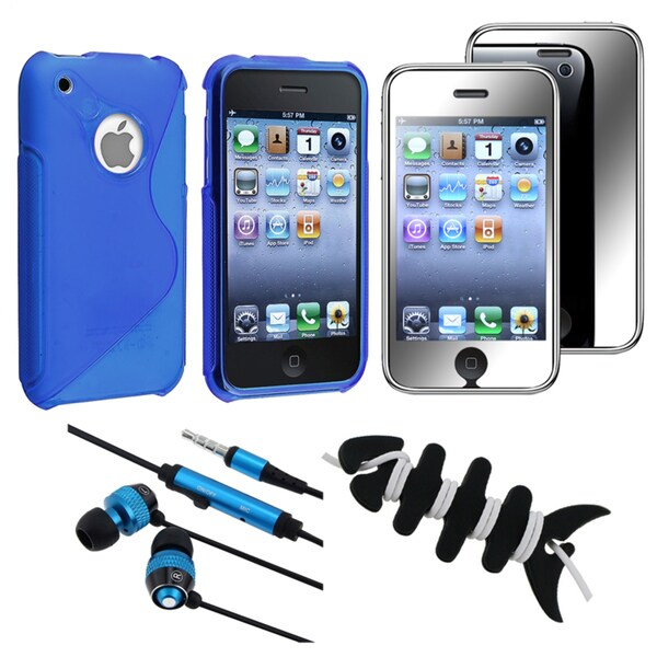 BasAcc Blue TPU Case/ Protector/ Headset/ Wrap for Apple iPhone 3GS