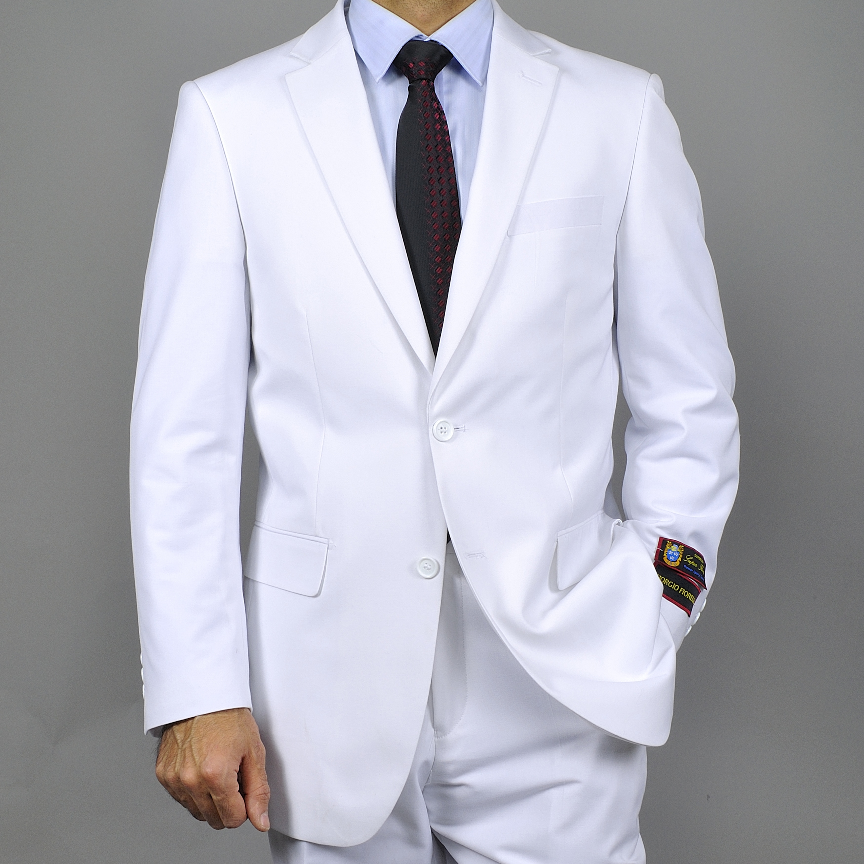 ... White Two-button Suit - Overstock™ Shopping - Big Discounts on Suits