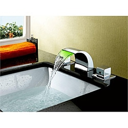 Sumerain LED Thermal Chrome Bathroom Sink Faucet