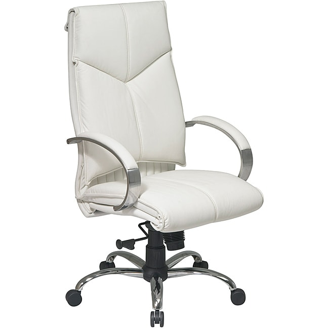 Office Star Deluxe High Back Executive Leather Chair 14064254 Overstock C