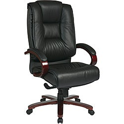 Deluxe High-back Executive Leather Chair