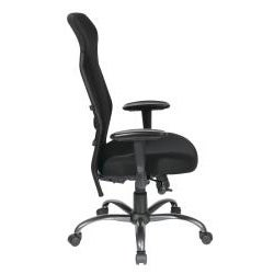 Office Star Black Mesh High-Back Chair