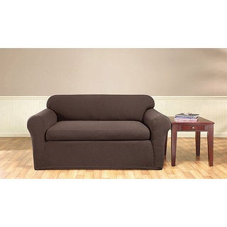 Sure Fit Stretch Honeycomb 2-Piece Loveseat Slipcover