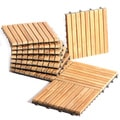Le click Exclusive Interlocking Teak Decktiles (Pack of 10)