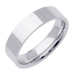 14k White Gold Men's High-polish Wedding Band
