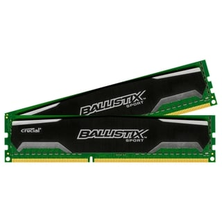 Crucial 4GB kit (2GBx2), Ballistix 240-pin DIMM, DDR3 PC3-12800 Memor