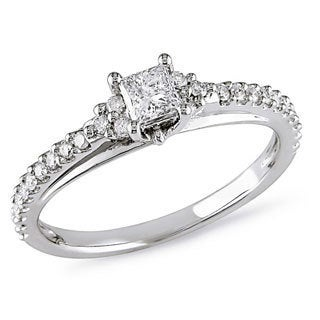 10k White Gold 1/2ct TDW Diamond Ring (G-H, I2-I3)