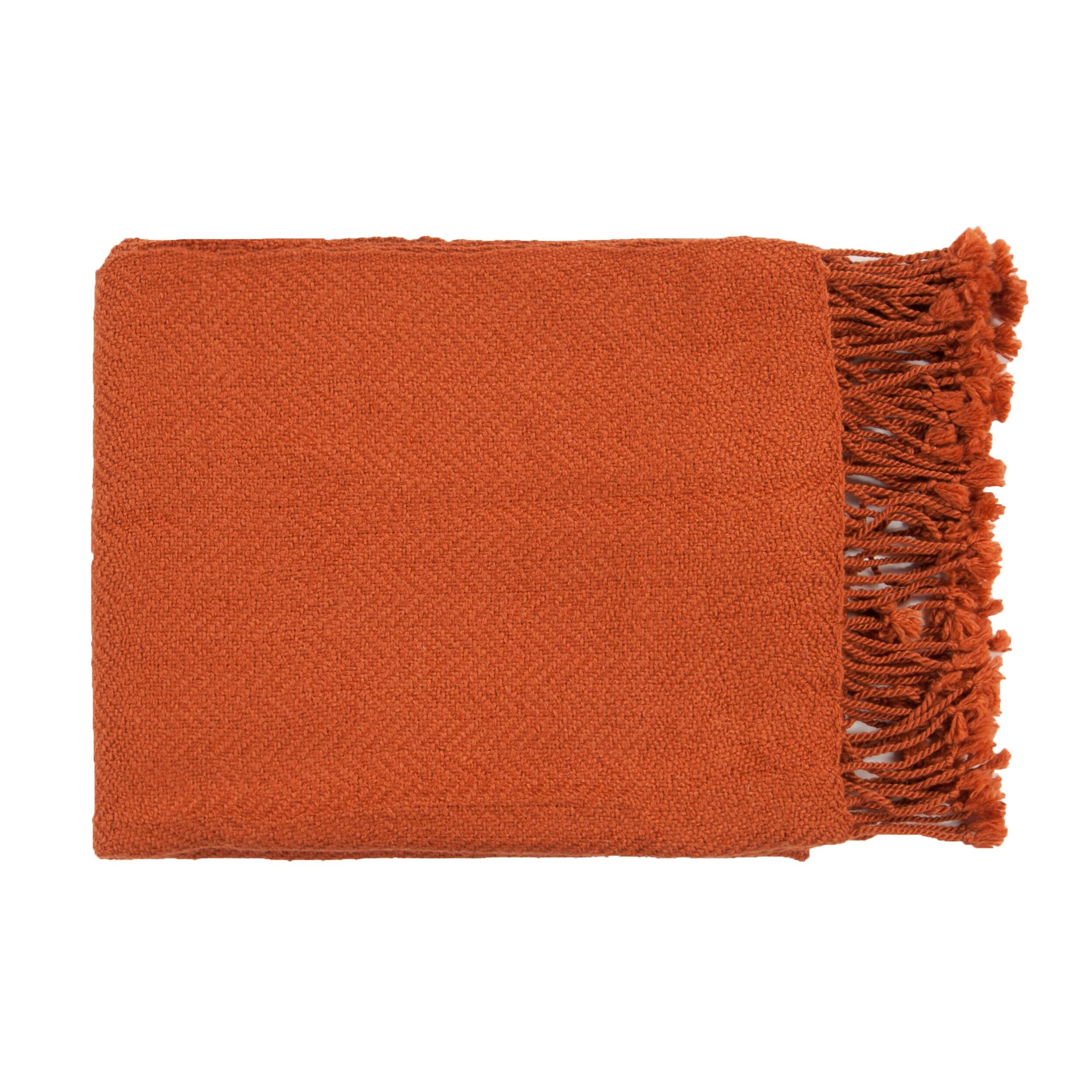 Woven Leafy Acrylic Throw Blanket (50 x 60)
