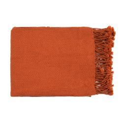 "Woven Leafy Acrylic Throw Blanket (50"" x 60"")"