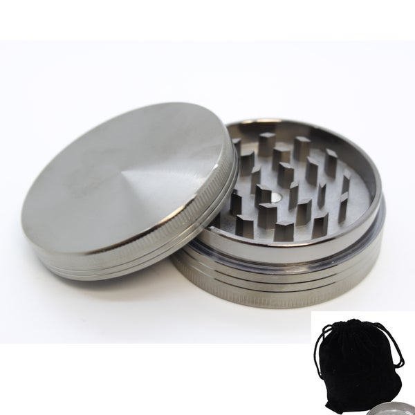 Zinc Steel 2-piece 2.5-inch Herb Grinder Set