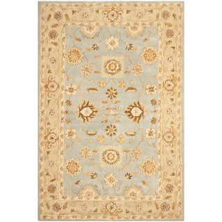 Safavieh Hand-made Farahan Blue/ Sage Hand-spun Wool Rug (6' x 9')