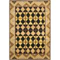 Hand-knotted Gabeh Tribal Black/ Gold Wool Rug (5' x 8')