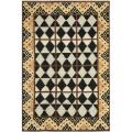 Hand-knotted Gabeh Tribal Black/ Multi Wool Rug (6' x 8')