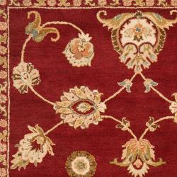Hand-tufted Red Amurensis Wool Rug (5' x 8')