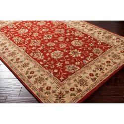 Hand-tufted Red Kensington Wool Rug (5' x 7' 9)