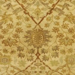 Hand-knotted Cream Kabocha New Zealand Wool Rug (3'9 x 5'9)