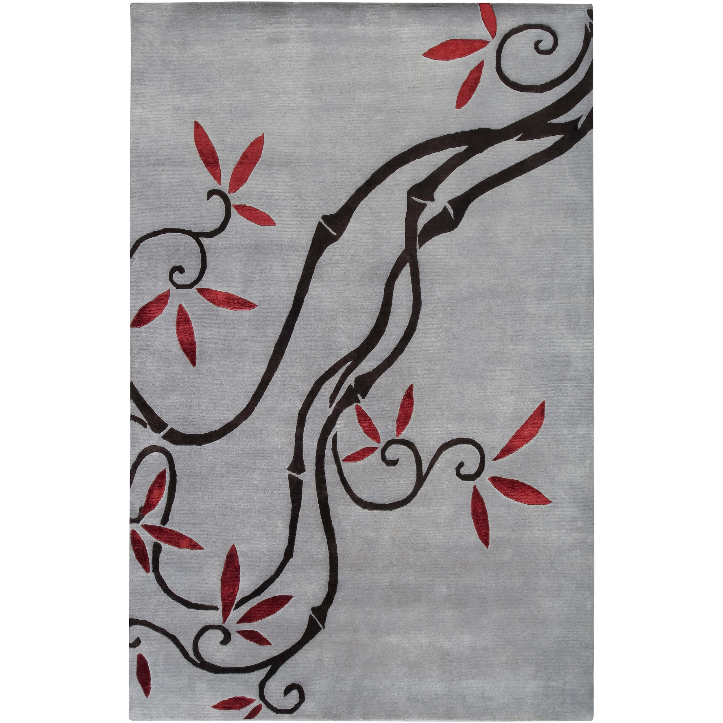 Smithsonian Collection Hand-knotted Burdoch Floral Wool Rug (5' x 8')