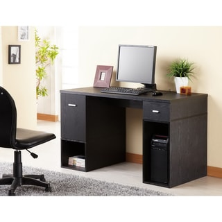 Furniture of America Station Matte Black Modular TV Cabinet/ Home Office Desk