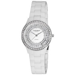 Akribos XXIV Women's Slim Ceramic Quartz Watch