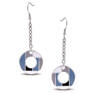 M by Miadora Stainless Steel Circle Dangle Earrings