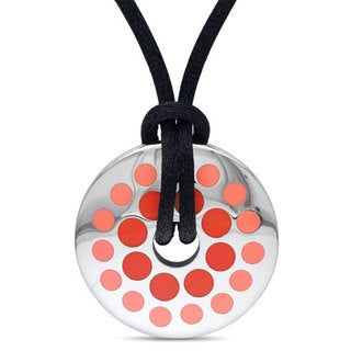 M by Miadora  Stainless Steel Pink Circle Rope Necklace
