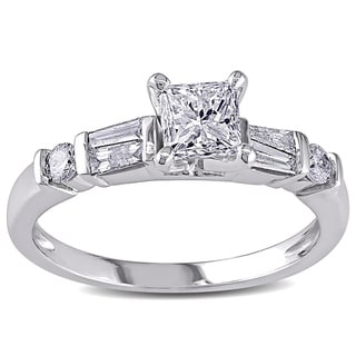 Miadora Signature Collection 14k White Gold 3/4ct TDW Diamond Ring (G-H, I1-I2)