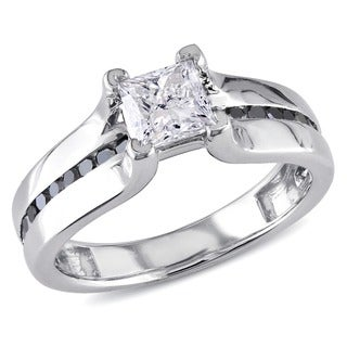 Miadora Signature Collection 14k White Gold 1ct TDW Black and White Diamond Ring (G-H, I1-I2)