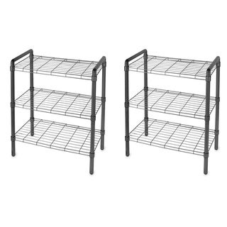 The Art of Storage Black 3-tier Quick Rack (Pack of 2)