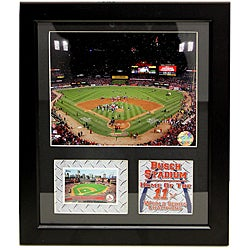 St. Louis Cardinals 2011 World Series Champions Busch Stadium Deluxe Stat Frame