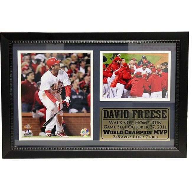 St. Louis Cardinals 2011 World Series MVP David Freese Photo Stat Frame