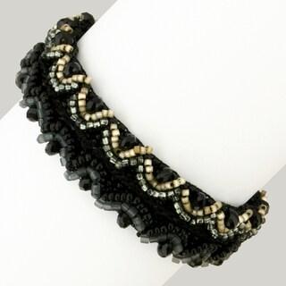 Corina 'Ebony Elegance' Beaded Bracelet (Guatemala)