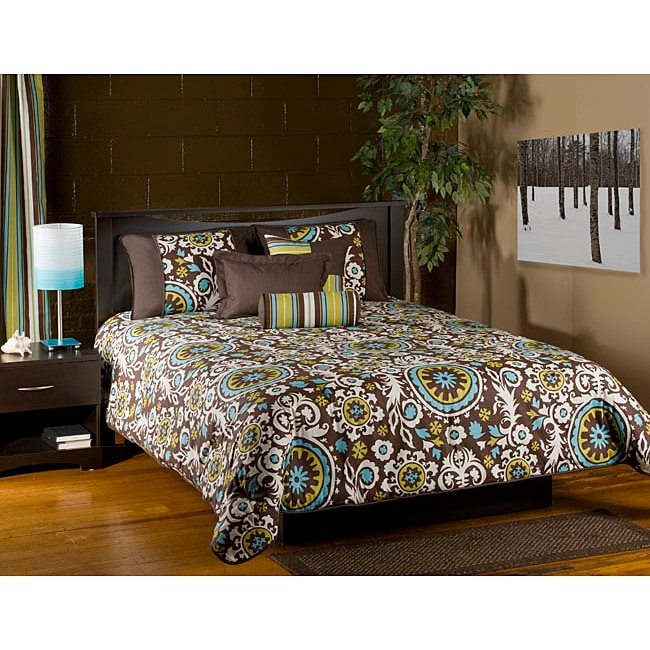 Orleans Brown 6-piece King Comforter Set