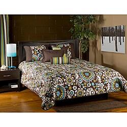 Orleans Brown 6-piece Queen Comforter Set