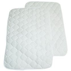 ABC Waterproof Quilted Lap/ Burp Pad (Pack of 2)