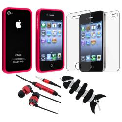 BasAcc Red Bumper Case/ Protector/ Headset/ Wrap for Apple iPhone 4S