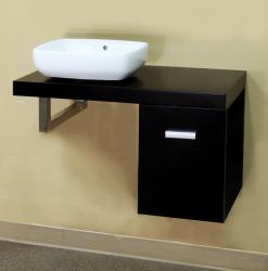 Black 35.4-inch Single Bathroom Vanity and Sink