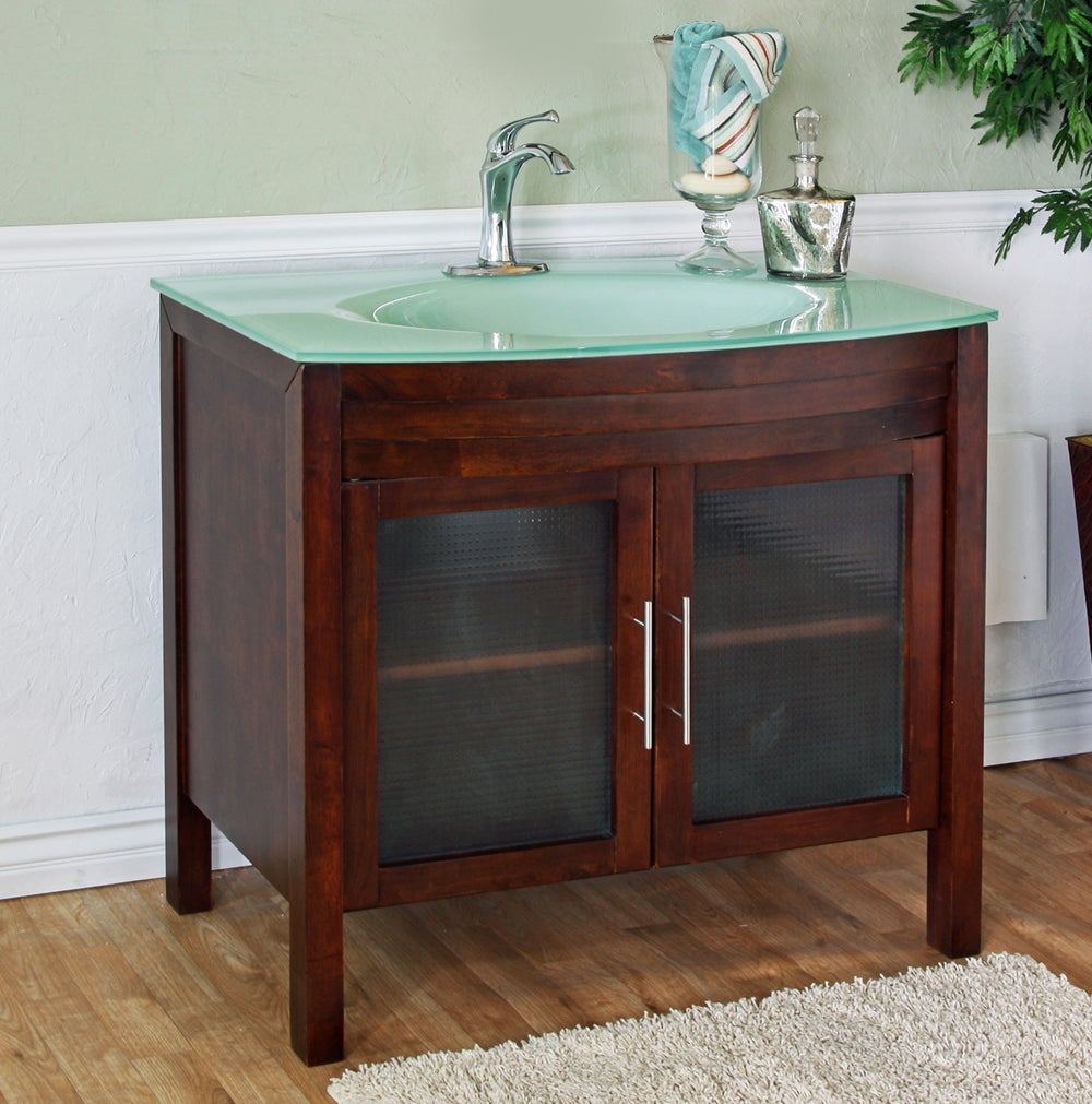 Walnut 39 4 Inch Birch Wood Single Bathroom Vanity And