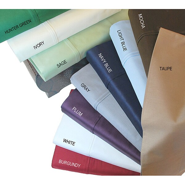 Egyptian Cotton Sateen 400 Thread Count Olympic Queen Deep Pocket Sheet Set