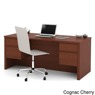 Durable Bestar Prestige Plus Six-Drawer Laminate Executive Desk