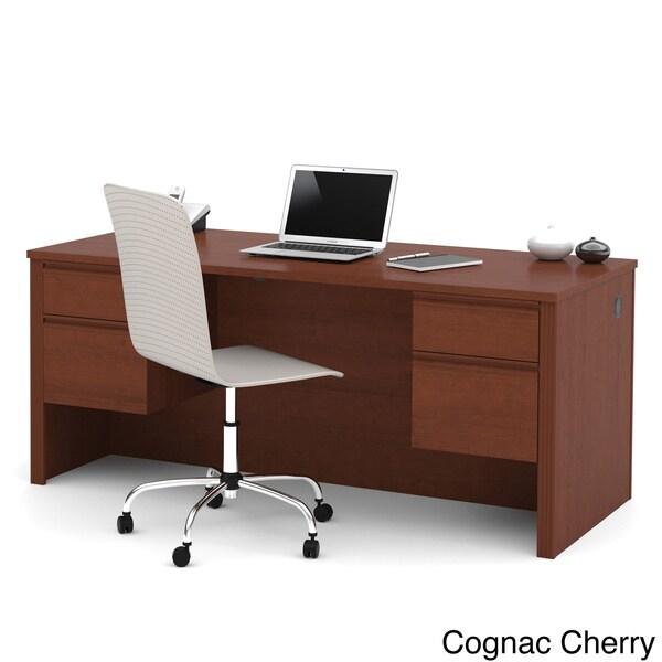 Durable Bestar Prestige Plus Four-Drawer Laminate Executive Desk