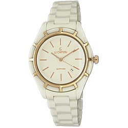 Le Chateau Women's Sapphire Crystal Classico White Ceramic Watch