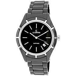 Le Chateau Men's Classico Black Ceramic Sapphire Crystal Watch