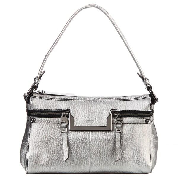 Perlina 'Lola' Pewter Leather Shoulder Handbag
